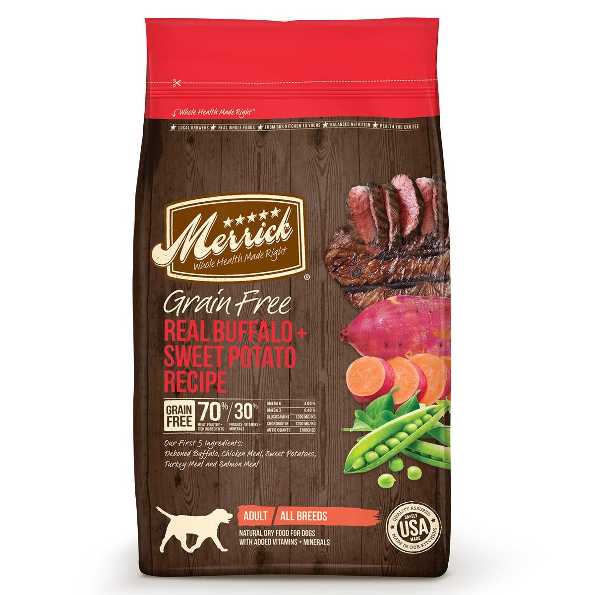 Merrick® Grain Free Real Buffalo + Sweet Potato Recipe Dry Dog Food