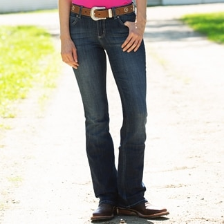 Wrangler Women's Mid Rise Bootcut Jeans