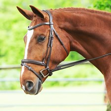 F//S BLACK NEW SmartPak Horse Replacement Leather Padded Mono Bridle Crownpiece