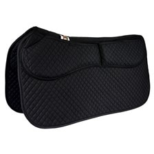 Equine Comfort Western Cotton Correction Saddle Pad With Removable Foam Inserts