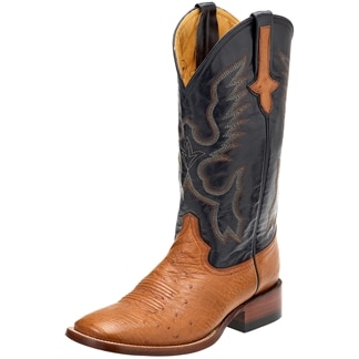 Ferrini Men's Smooth Ostrich Boots