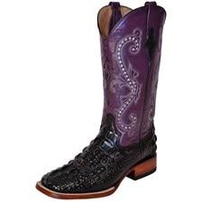 Ferrini Women's Print Hornback Caiman Boots