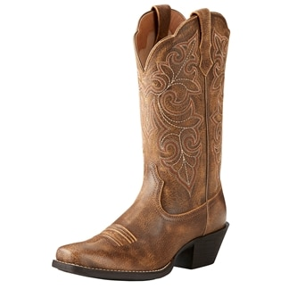 Ariat Women's Round Up Square Toe Boots - Vintage Bomber