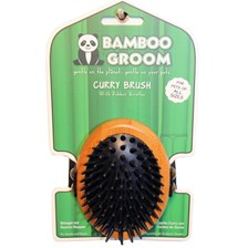 Bamboo Groom Curry Dog Brush