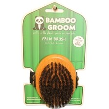 Bamboo Groom Palm Dog Brush