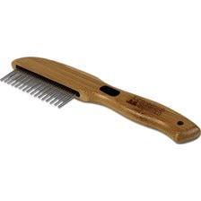Bamboo Groom Rotating Pin Dog Comb