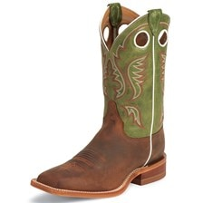 Justin Men's Austin Boots - Green Cow
