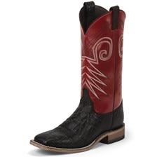Justin Men's Bent Rail Stillwater Boots - Black/Red
