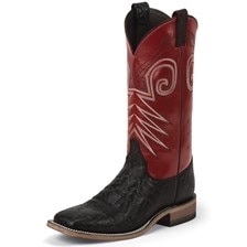 Justin Men's Bent Rail Stillwater Boots - Black/Red