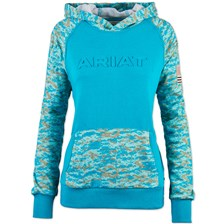 Ariat Women's R.E.A.L Patriot Hoodie – Peacock Blue