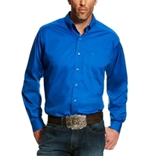 Ariat Men's Solid Stretch Poplin Classic Fit Shirt