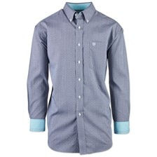 Ariat Men's Kaiserman Wrinkle Free Classic Fit Print Shirt