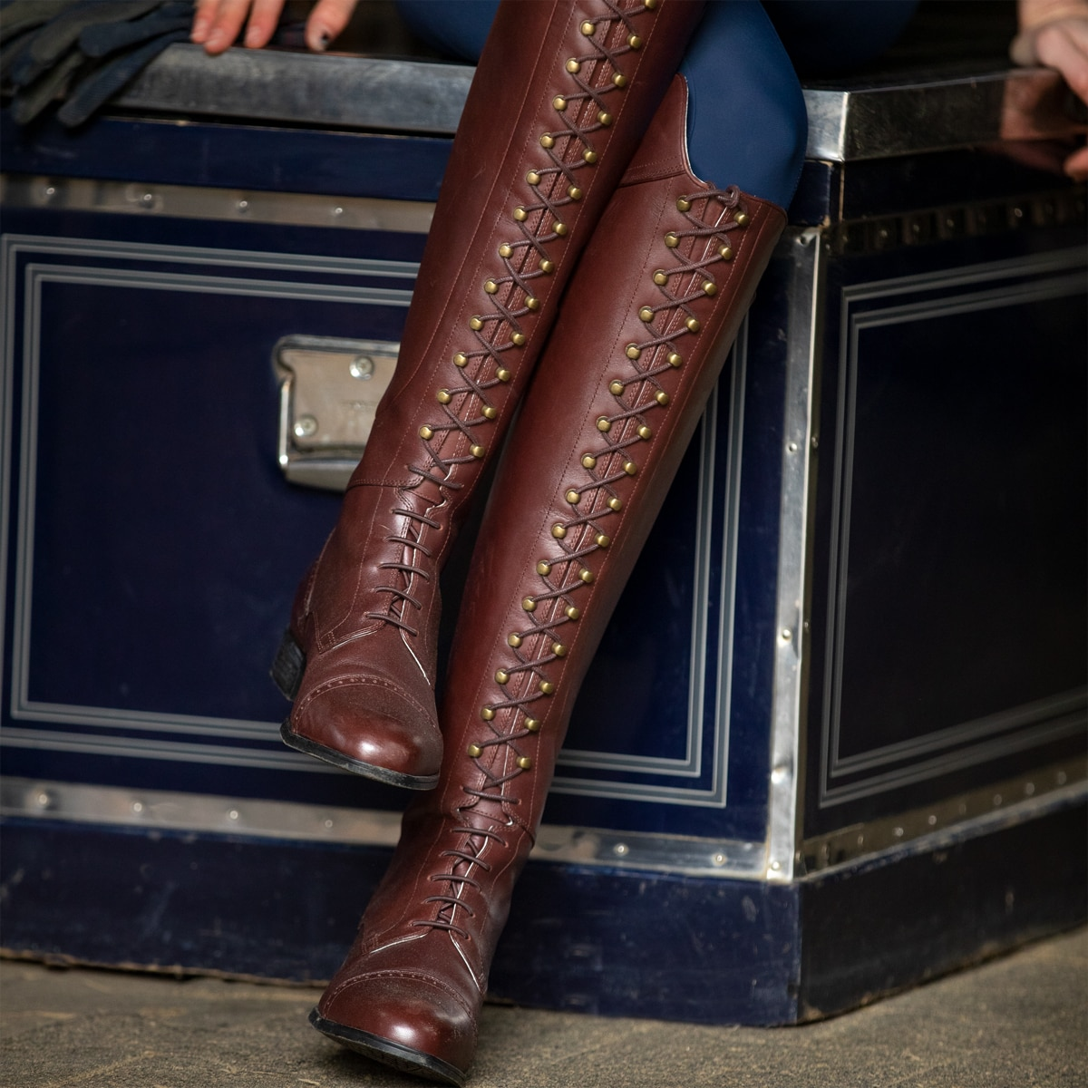 1a82a8bd963 Ariat Capriole Lace Up Dressage Boot - Mahogany
