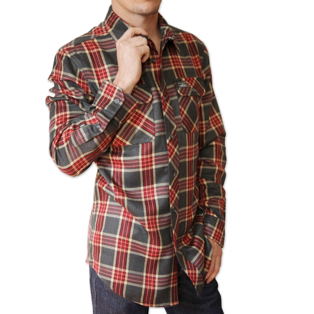 Kimes Ranch Men's Jackeroo Mixed Flannel Shirt