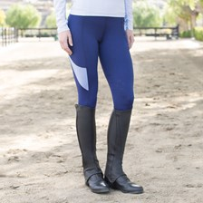 Piper Color Block Tights by SmartPak - Knee Patch