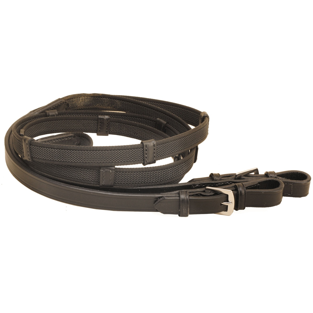 Tory Leather Rubber Web Reins
