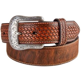 Ariat Men's Distressed Basket Weave Belt