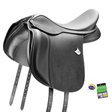 Bates Wide All Purpose Heritage Leather Saddle w/CAIR