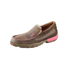 Twisted X Women's Slip-On Driving Moccasins – Bomber/Neon Pink