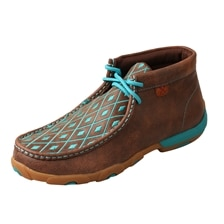 Twisted X Women's Driving Moccasins – Brown/Turquoise Embroidery