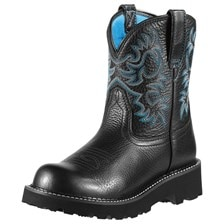 Ariat Women's Fatbaby Boot - Black Deertan
