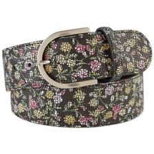 The Tailored Sportsman Mosaic Floral Leather Belt
