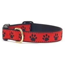 UpCountry® Red Black Paw Dog Collar