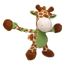 Jungle Pulleez Giraffe Dog Toy