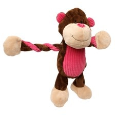 Jungle Pulleez Monkey Dog Toy
