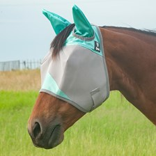 Patterned Crusader Fly Mask- Standard with Ears - Pony