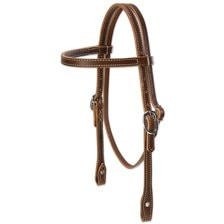 Weaver Doubled and Stitched Harness Leather Pony Browband Headstall