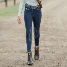 Piper Girls Original Breeches by SmartPak - Knee Patch