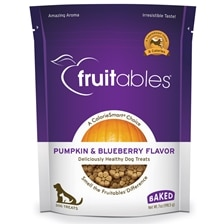 Fruitables Crunchy Baked Dog Treats - Pumkin/Blueberry