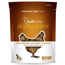Fruitables Skinny Minis Soft Chew Dog Treats - Chicken