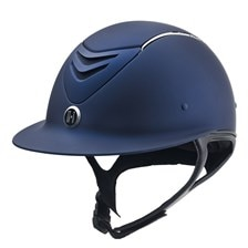 One K Avance Wide Brim Chrome Stripe Helmet