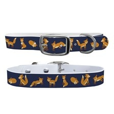 C4 Playing Foxes Dog Collar
