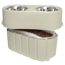 OurPets Store-N-Feed Adjustable Raised Dog Feeder