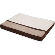 Classic Ortho Microluxe Plush/ Suede Dog Bed