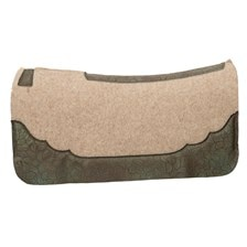 Weaver Contoured Wool Blend Felt Saddle Pad with Daisy Moss Embossed Wear Leathers