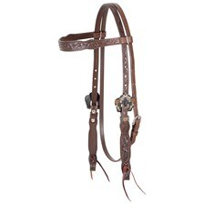 Cashel Guns and Roses Browband Headstall