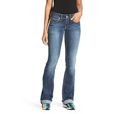 Ariat R.E.A.L Mid Rise Tulip Boot Cut Jean - Gemstone