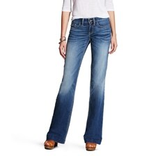 Ariat Baseball Stitch Wide Leg Trouser Jean - Bonnie