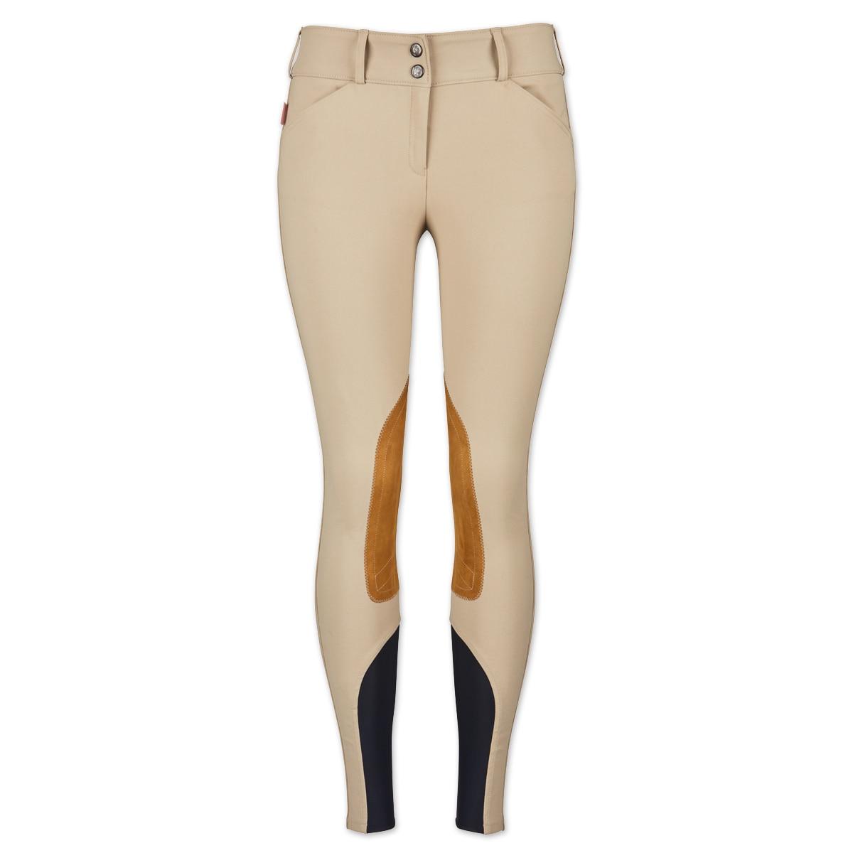 Tailored Sportsman Ladies Sock Bottom Breeches Bordeaux Front Zip Low Rise