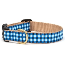 UpCountry® Navy Gingham Dog Collar