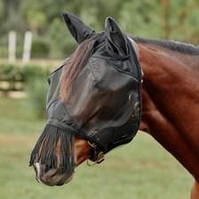 SmartPak Fine Mesh Fly Mask with Fringe Nose