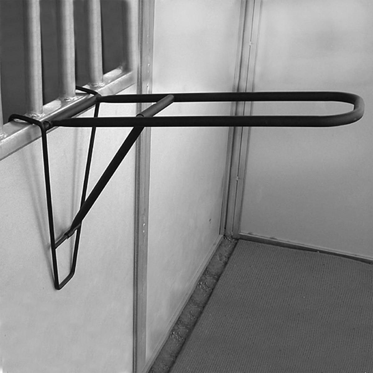4 HOOK Horse Portable Tack Rack Holder ~ Hangs On Stable Door Wall//Float