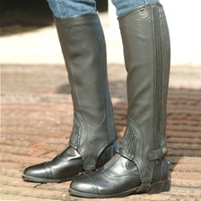 Ovation® Ladies Stretch Ribbed Top Grain Half Chaps