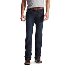 Rebar M5 Slim DuraStretch Edge Stackable Straight Leg Jean - Blackstone