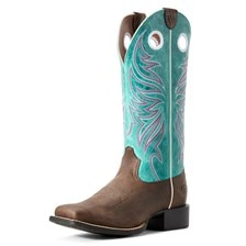 Ariat Women's Round Up Ryder Western Boot - Miami Blue