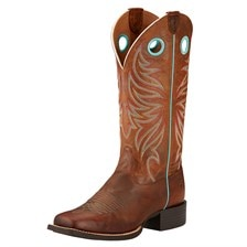 Ariat Women's Round Up Ryder Western Boot - Sassy Brown